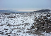 Rocks and Snow in a Road Toward Colca Valley — Stock Photo