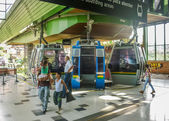 Cableway Station in Medellin — Stock Photo