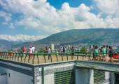 People at Gazebo in Nutibara Hill in Medellin — Stock Photo