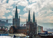 Neo Gothic Style Church in Medellin Colombia — Stock Photo