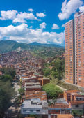 Citiyscape Poor Town in Medellin Colombia — Stock Photo
