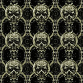 Skulls Motif Dark Seamless Pattern — Stock Photo