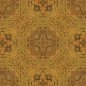 Geometrik simgeler kabile desen — Stok fotoğraf
