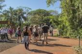 Devil Throat Entrance at Iguazu Park in Argentina — Stock Photo