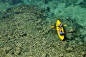 Tandem Kayaking at Sea — Stock Photo