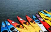 Colorful Kayaks — Stock Photo