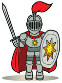 Little knight — Stock Vector