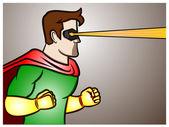 Superhero Laser Beam Vision — Stock Vector