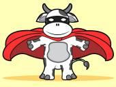 Super cow — Stock Vector