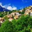 Breathtaking landscapes of Corsica - view of Evisa vilage — Stock Photo #54386209
