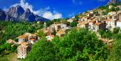 Breathtaking landscapes of Corsica - view of Evisa vilage — Stock Photo