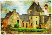 Medieval castles of France, artistic picture — Stock Photo