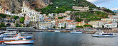 Panorama of beautiful Amalfi. Italy — Stock Photo