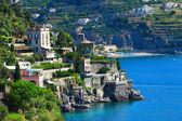 Schilderachtige kust van Amalfi - Castiglione — Stockfoto