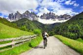 Alpine activities - Dolomites, north of Italy — Stock Photo
