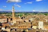 Siena, Tuscany, view of piazza del campo — Stock Photo