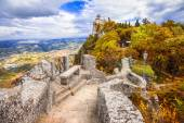 Outono em San Marino, Itália — Fotografia Stock
