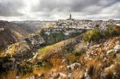 Stanning view of Matera, Basilicata, Italy — Stock Photo
