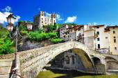 Beautiful medieval villages of Italy - Dolceaqua (Liguria) — Stock Photo