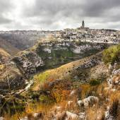 Impressive Matera - ancient cave city in Basilicata, Italy — Stock Photo