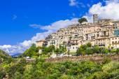 Casperia -beautiful small hill top village, Rieti, Italy — Stockfoto