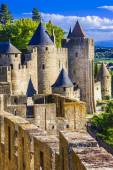 Carcassone - biggest fortress in Europe, France — Stockfoto