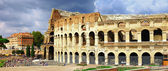 Great Rome, panoramic view with Colosseo — Stock Photo