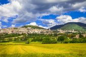 Beautiful view of medieval Assisi, Umbria  — Stock Photo