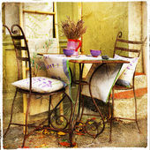 Charming decorated  streets of Provence — Stock Photo