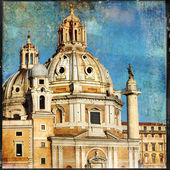 Great antique Rome - vintage cards series — Stock Photo