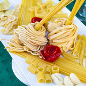 Plate of home made italian pasta — Stock Photo