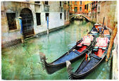 Venetian canals. artwork in painting style — Stock Photo