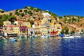 Holidays in beautiful Greek islands, Symi — Stock Photo