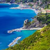 Vista di Monterosso al mare, Ligurian coast. Cinque terre — Stock Photo