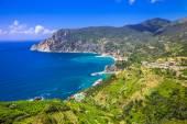Scenery of Ligurian coast- view of Monterosso al mare, Cinque te — Stock Photo