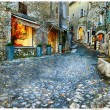 Atmospheric old villages - Paul De Vence, France — Stock Photo #64003483