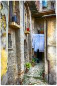 Sharming old streets of medieval villages of Italy — Stock Photo