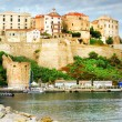 Calvi, Corsica. Panoramic view with fortress in marina — Stock Photo #66700681