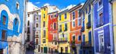 Colors of mediterranean towns series - streets of Cuenca, Spain — Stock Photo