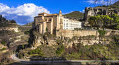 Incredible Spain series - Cuenca - town on rocks, view of Parado — Stock Photo