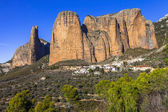 Incredible rocks -  Mallos de Riglos (province of Huesca, Spain) — Stok fotoğraf