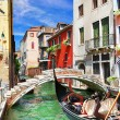 Venetian vacations. colorful sunny canals of beautiful city — Stock Photo #67489971