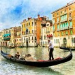 Beautiful romantic Venice - artistic picture — Stock Photo #67490245