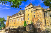 Castelnau-Bretenoux, impressive medieval castle of France, Lot department — 图库照片