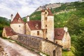 Autoire -one of the 'most beautiful villages of France — Stock Photo