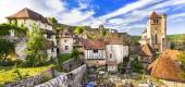 Saint-Cirq-Lapopie - one of the most beautiful villages of Franc — Stock Photo