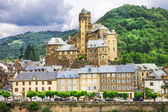 Estaing- one of the most beautiful villages of France list — Stock Photo