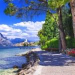 Scenery of northen Itlay - Malcesine,  Lago di garda — Stock Photo #68676603