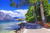 Scenery of northen Itlay - Malcesine,  Lago di garda — Стоковое фото