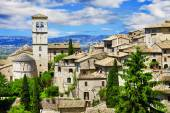 View of the famous Basilica of St Francis, Assisi, Italy — Stock Photo
